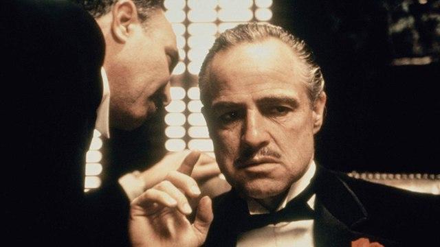 The Godfather movie (1972) Marlon Brando, Al Pacino, James Caan