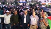 (TEKRAR) İsrail'in saldırılarını sürdürdüğü Gazze'ye Batı Şeria'dan destek - RAMALLAH