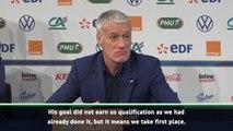 Deschamps heaps praise on Giroud after narrow victory