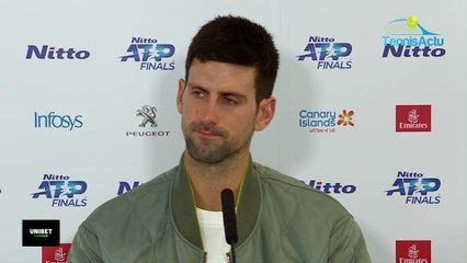 """Masters de Londres 2019 - Novak Djokovic beaten by Roger Federer who is 6 years older than him : """"It shows me that it is possible"""""""