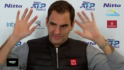 """Masters de Londres 2019 - Roger Federer : """"I know Rafa was here ... I'm sure Nadal looked"""""""