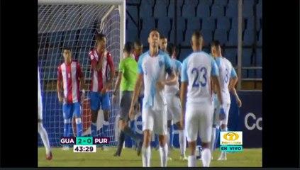 Tercer gol de Guatemala ante Puerto Rico