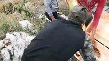شاهد-- استهداف نقاط تمركز عصابات الأسد في معسكر جورين وعين سليمو بريف حماة بقذائف المدفعية الثقيلة