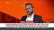 İletişim Başkanı Fahrettin Altun konuştu