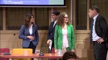 Hungary minister Judit Varga clashes with Dutch MEP in debate on European values