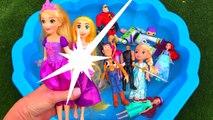 Learn Characters Colors, Super Heroes, Disney Princess, Toy Story, Pj Masks, Paw Patrol in Pool