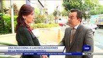 CNA reacciona a las declaraciones de la procuradora Porcell  - Nex Noticias