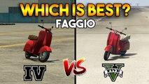 GTA 5 FAGGIO VS GTA 4 FAGGIO - WHICH IS BEST