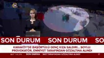 Karaköy'de başörtülü genç kıza saldırı