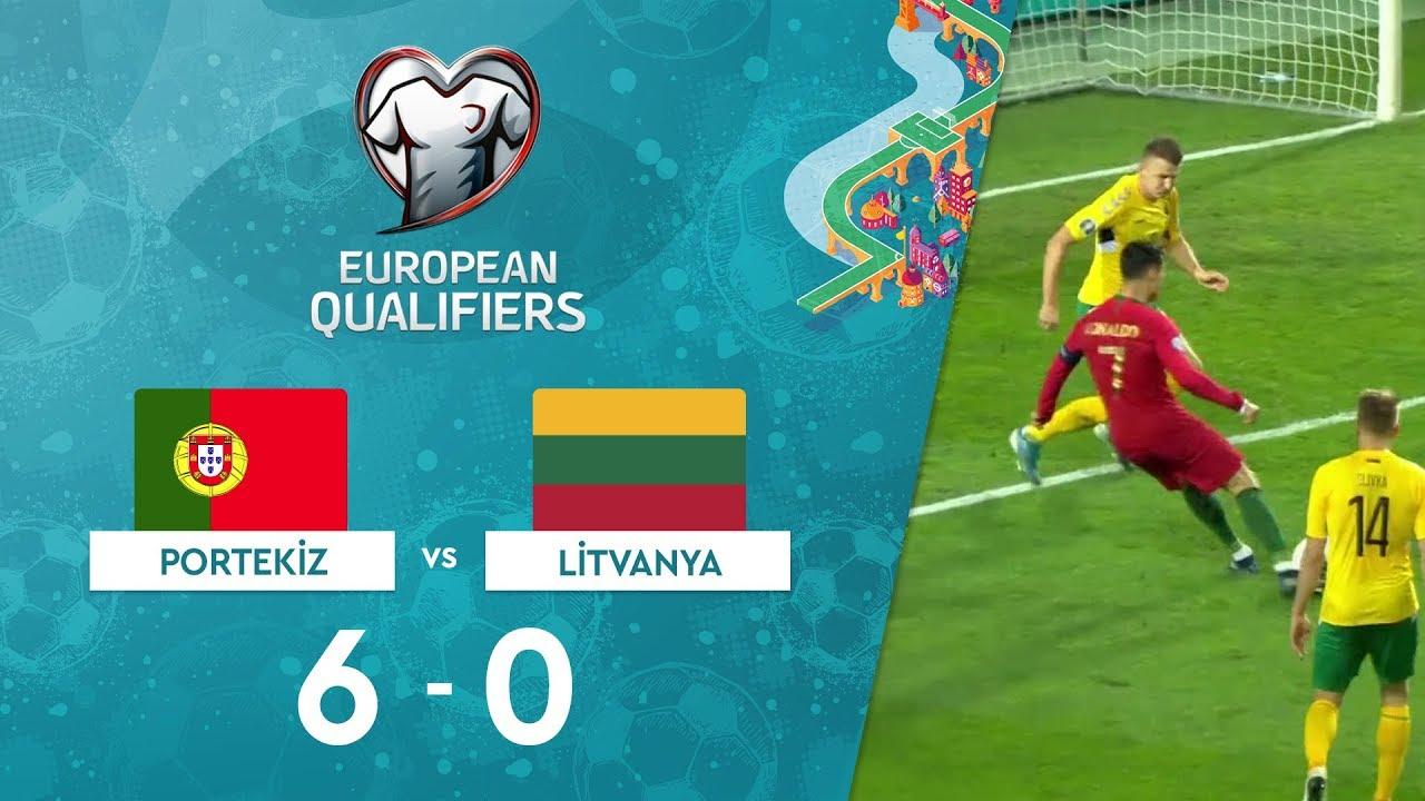 Portekiz 6-0 Litvanya | EURO 2020 Elemeleri Maç Özeti - B Grubu