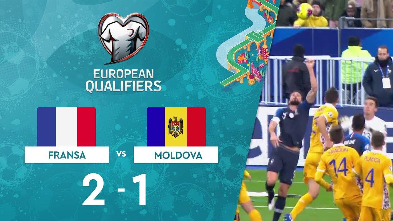 Fransa 2-1 Moldova | EURO 2020 Elemeleri Maç Özeti - H Grubu