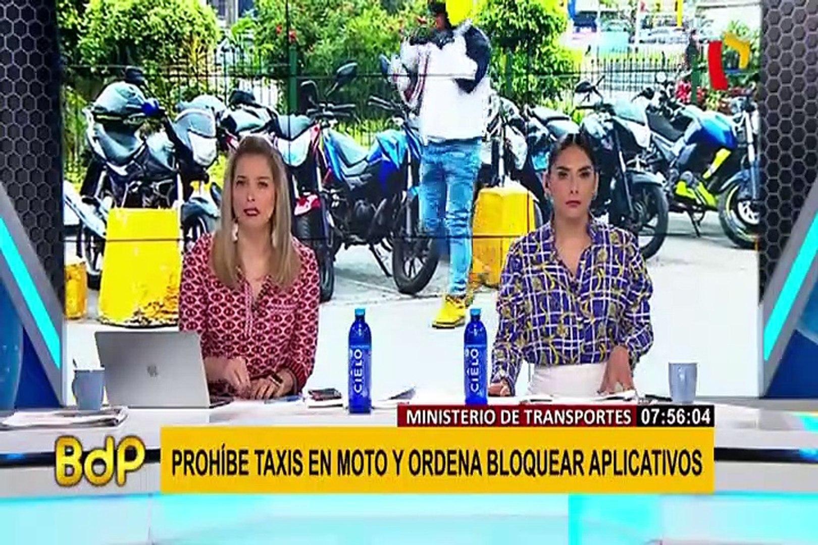 Así luce el Óvalo Higuereta a un día de la prohibición del servicio de taxis en moto