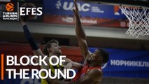 Efes Block of the Round: Kyle Hines, CSKA Moscow