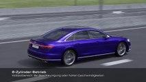 Der neue Audi S8 Cylinder on demand Animation