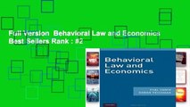 Full Version  Behavioral Law and Economics  Best Sellers Rank : #2