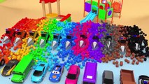 Learn Colors with Street Vehicle and Assemble Flying Toy Cars in Magic Slide Pretend Play for Kids