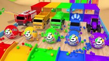Learn Colors with Street Vehicle and Surprise Egg on Magic Slide Pretend Play Toys Car for Kids