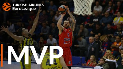 Round 8 MVP: Mike James, CSKA Moscow