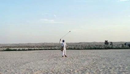 Falcon show in Jumeriah Al Wathba Resort