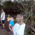 Les inondations transforment cette piscine naturelle à Hawai en un torrent de boue