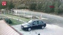 Nurdağı'nda otomobil şarampole yuvarlandı