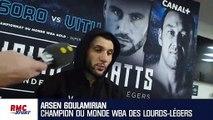 """Boxe : """"Je ne cherchais pas à le mettre KO"""", Goulamirian raconte son combat contre Watts"""