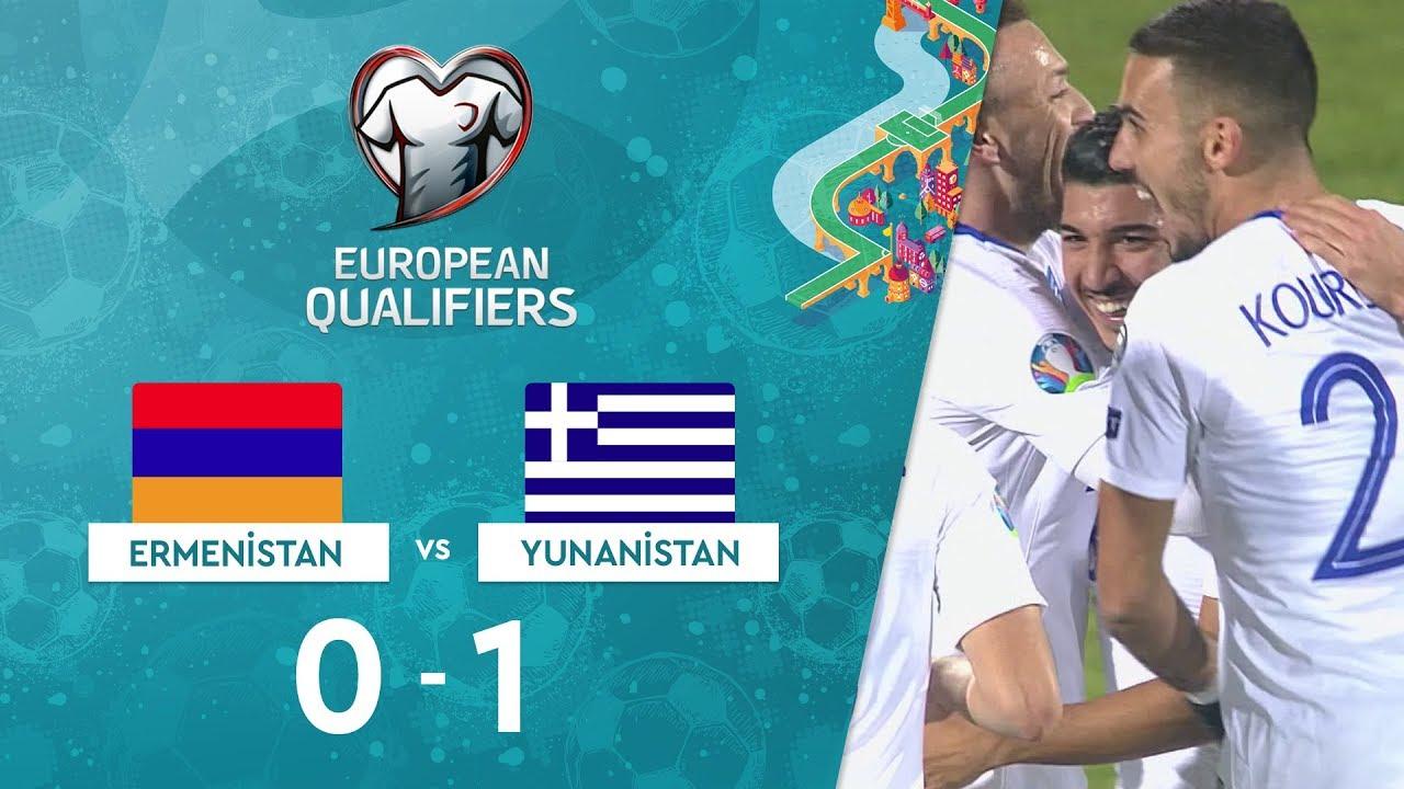 Ermenistan 0-1 Yunanistan | EURO 2020 Elemeleri Maç Özeti - J Grubu