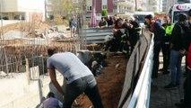 İnşaatta beline kadar toprak altında kalan işçi kurtarıldı - AYDIN