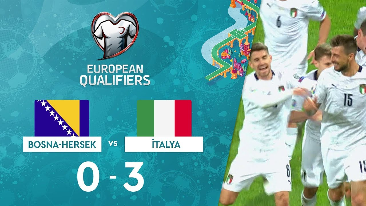 Bosna-Hersek 0-3 İtalya | EURO 2020 Elemeleri Maç Özeti - J Grubu