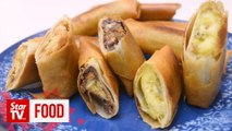 Retro Recipe: Banana spring roll