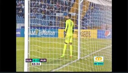 Chica interrumpe el partido entre Guatemala y Puerto Rico entrando el campo de juego