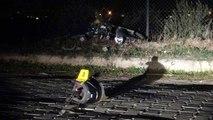 Demir çite çarpan motosikletin sürücüsü öldü