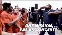 Le concert très religieux de Kanye West dans une prison texane
