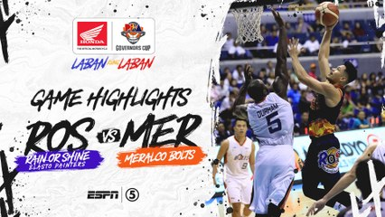 Highlights: Rain or Shine vs Meralco | PBA Governors' Cup 2019