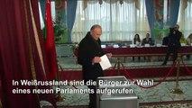 Weißrussen wählen neues Parlament