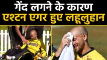 Marsh Cup 2019 : Ashton Agar left blood-soaked after dropping brother Wes Agar |वनइंडिया हिंदी