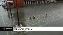 Troisième marée haute en une semaine à Venise
