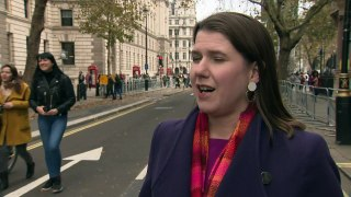 Jo Swinson: Prince Andrew interview 'troubling' to watch