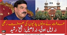 LHC satisfied both parties over the decision of sending Nawaz Sharif abroad: Sheikh Rasheed
