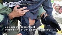 Polizist bei Protesten in Hongkong durch Pfeil verletzt
