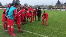Haute-Saône (70) : la joie des joueurs du FC 4 Rivieres après leur superbe qualification face à Chassieu Decines