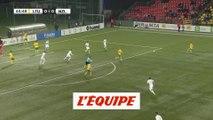 Le but de Lituanie - Nouvelle-Zélande - Foot - Amical