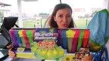 500 SU BALONUYLA SU SAVAŞI YAPTIK! WATER BALOON CHALLENGE ZURU BUNCH O BALOONS! Bidünya Oyuncak