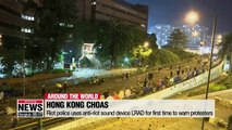 Fire and fury at Hong Kong Polytechnic University as riot police and protesters clash