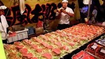 Professional Okonomiyaki by japanese food stall:Japanese street food 橋本一星