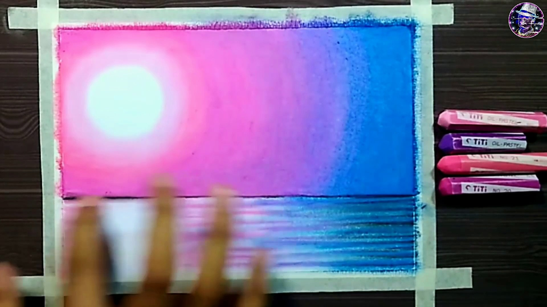Easy Trick A Beautiful Purple Moonlight Scenery Drawing Oil Pastel Tutorial Step By Step Video Dailymotion