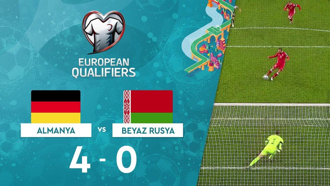 Almanya 4-0 Beyaz Rusya | EURO 2020 Elemeleri Maç Özeti - C Grubu