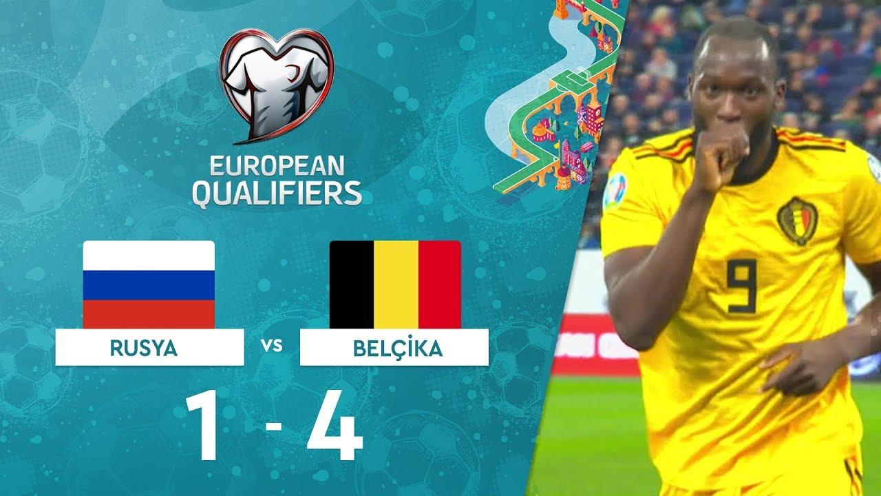 Rusya 1-4 Belçika | EURO 2020 Elemeleri Maç Özeti - I Grubu