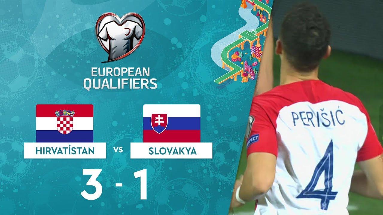 Hırvatistan  3-1 Slovakya | EURO 2020 Elemeleri Maç Özeti - E Grubu