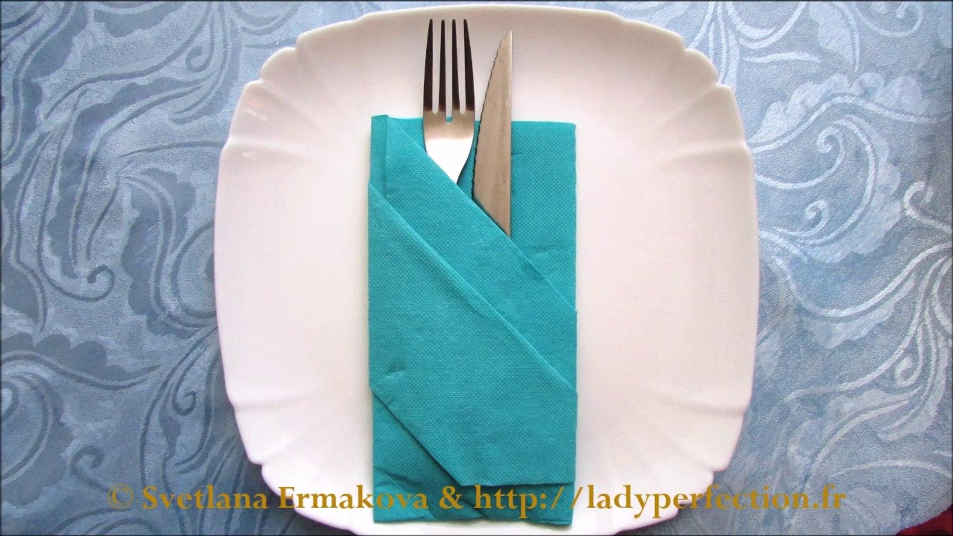 Pliage Serviette Papier Avec Couverts pliage des serviettes : range-couvert, pochette